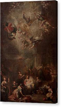 Nativity Of Mary Canvas Print by Andrea Celesti