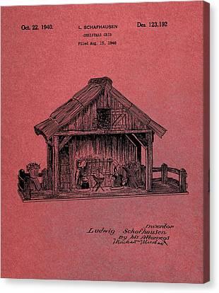 Nativity Scene Patent Canvas Print by Dan Sproul