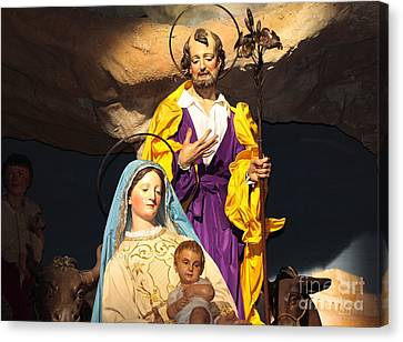 Christmas Nativity Scene Canvas Print by Stefano Senise