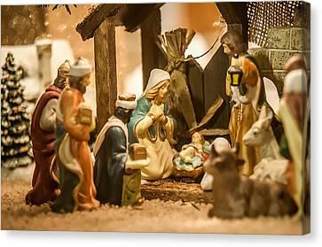 Canvas Print featuring the photograph Nativity Set by Alex Grichenko