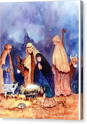 Nativity Canvas Print by Suzy Pal Powell