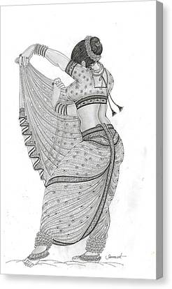 Dancer Canvas Print by Art Tantra