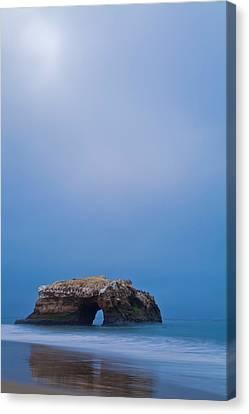 Natural Bridge And Its Reflection Canvas Print