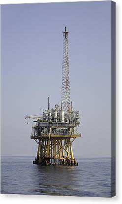 Canvas Print featuring the photograph Natural Gas Platform by Bradford Martin