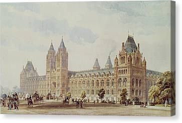 Natural History Museum  Canvas Print by Alfred Waterhouse