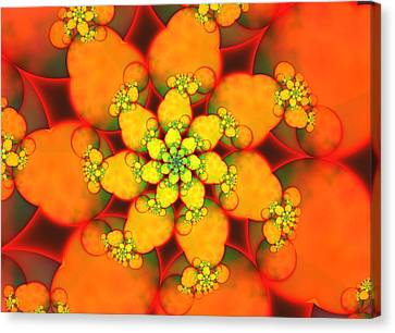 Natural Orange Canvas Print by Alex Porter
