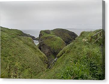 Natural Paradise Carrick-a-rede Northern Ireland Canvas Print by Betsy Knapp