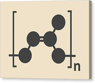 Natural Rubber Polymer Molecule Canvas Print by Molekuul