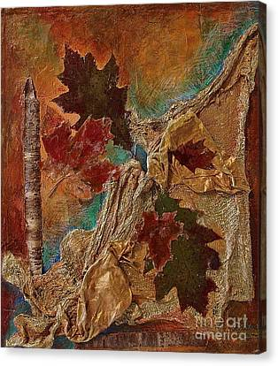 Canvas Print featuring the mixed media Natural Rythmes - Earth Colors  by Delona Seserman
