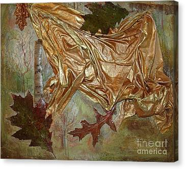 Canvas Print featuring the mixed media Natural Rythmes - Green Tones by Delona Seserman