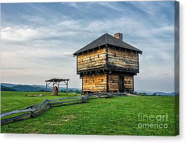 Natural Tunnel Blockhouse Canvas Print by Anthony Heflin