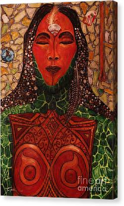 Natural Warrior Goddess Canvas Print by Cynthia Hagenhoff