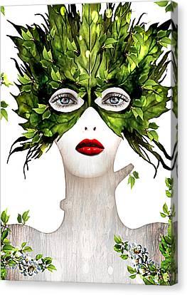 Natural Women Canvas Print by Yosi Cupano