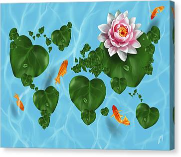 Natural World Canvas Print by Veronica Minozzi