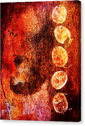 Canvas Print featuring the digital art Nature Abstract 3 by Maria Huntley