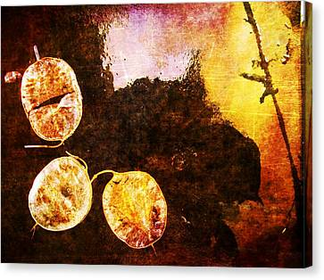 Canvas Print featuring the digital art Nature Abstract 6 by Maria Huntley