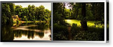 Nature Center 01 End Of Path Fullersburg Woods 2 Panel Canvas Print by Thomas Woolworth
