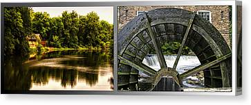 Nature Center 01 Grist Mill Wheel Fullersburg Woods 2 Panel Canvas Print
