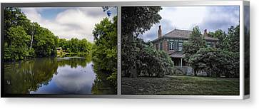 Nature Center 02 Italianate House Fullersburg Woods 2 Panel Canvas Print by Thomas Woolworth