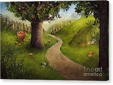 Nature Design - Apple Orchard Canvas Print by Mythja  Photography