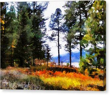 Canvas Print featuring the painting Nature Escape 1 by Wayne Pascall