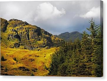 Nature Of Rest And Be Thankful. Scotland Canvas Print