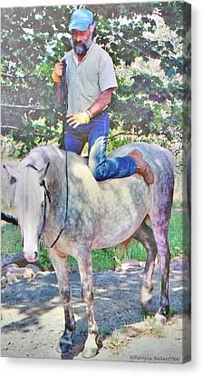 Nature Of The Beast- Enjoying His Paso Fino Stallion Canvas Print