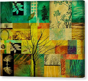 Nature Patchwork Canvas Print by Ann Powell