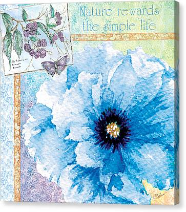 Nature Rewards The Simple Life Canvas Print