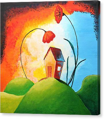 Nature Spills Colour On My House Canvas Print by Nirdesha Munasinghe
