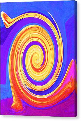 Nature Twirling Canvas Print by Margaret Saheed