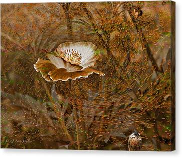 Canvas Print featuring the digital art Nature's Artistry At Work by J Larry Walker