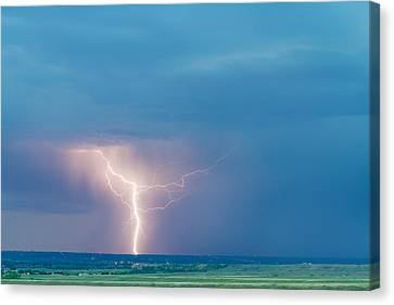 Lightning Decorations Canvas Print - Natures Avenging Spirit  by James BO  Insogna