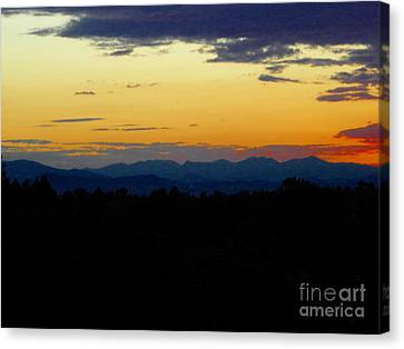 Canvas Print featuring the photograph Natures Brow by Diane Miller