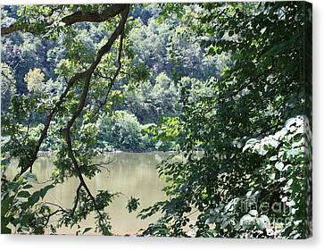 Nature's Frame Of The Delaware Water Gap Canvas Print by John Telfer