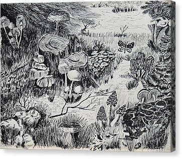 Natures Fungi Garden Canvas Print
