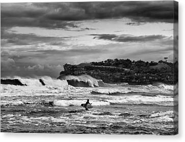 Canvas Print featuring the photograph Nature's Fury Surfers' Paradise by Photography  By Sai