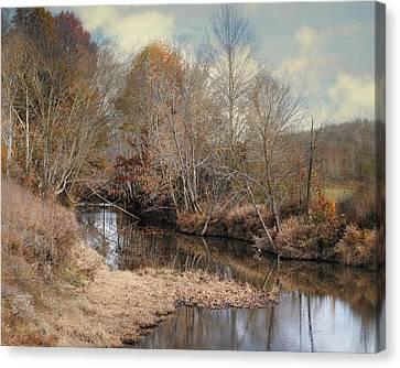 Fall Scenes Canvas Print - Nature's Glory - Autumn Stream by Jai Johnson