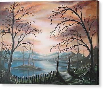 Natures Lights Canvas Print