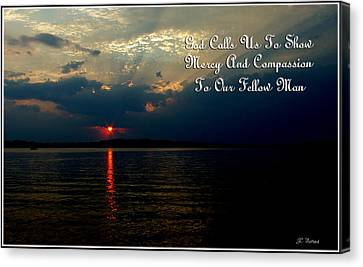 Natures Sunset Canvas Print by James C Thomas
