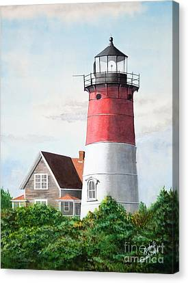 Nauset Beach Memories Watercolor Painting Canvas Print