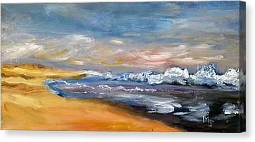 Nauset Beach Surf Canvas Print by Michael Helfen