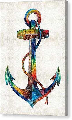 Nautical Anchor Art - Anchors Aweigh - By Sharon Cummings Canvas Print by Sharon Cummings