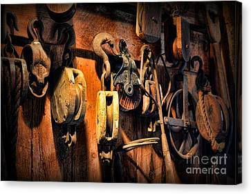 Gift For Canvas Print - Nautical - Boat - Block And Tackle  by Paul Ward