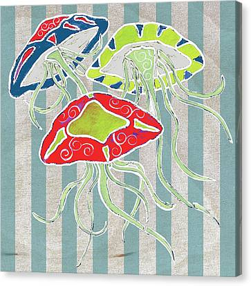 Jellyfish Canvas Print - Nautical-jellyfish by Shanni Welsh