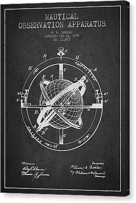 Nautical Observation Apparatus Patent From 1895 - Dark Canvas Print by Aged Pixel