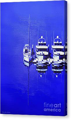 Nautical Reflections Canvas Print by MaryJane Armstrong