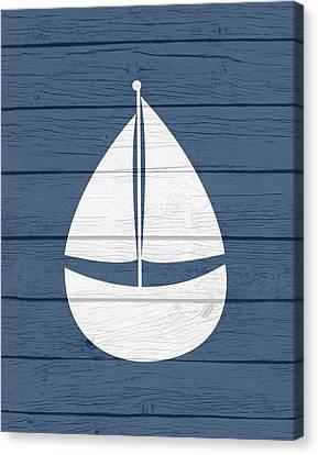 Nautical Sailboat Canvas Print by Tamara Robinson