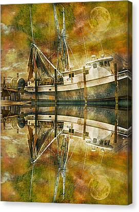 Nautical Timepiece Canvas Print by Betsy Knapp