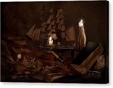 Nautically Inspired Canvas Print by Mary Tomaino